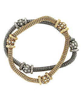 Elasticated Diamante Bracelet