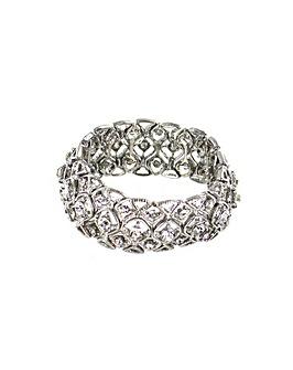 Diamante Encrusted Elasticated Bracelet