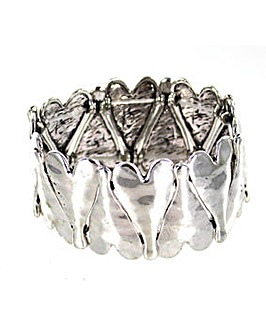 Lizzie Lee Multi Heart Panel Bracelet