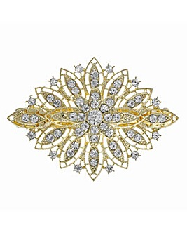 Mood Gold crystal ornate hair clip