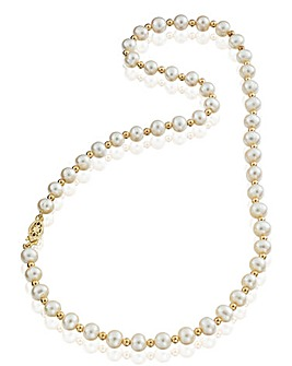 9 Carat Gold Pearl Necklace