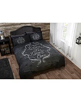 Cascade home Chalkboard Duvet Set