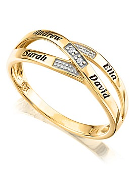 Precious Sentiments 9Ct Crossover Ring