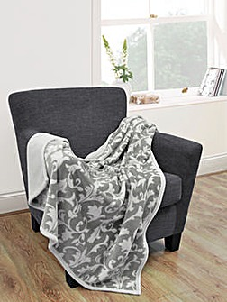 cascade home printed leaf mink throw