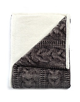 cascade home printed knit throw