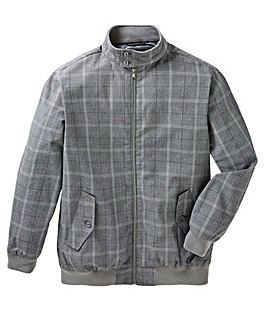 Black Label Checked Harrington Jacket