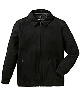 Black Label Wool Bomber Jacket Long
