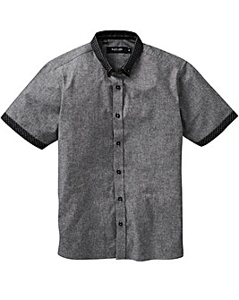 Black Label Chambray Trim Shirt Long