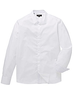 Flintoff By Jacamo LS Smart Text Shirt R