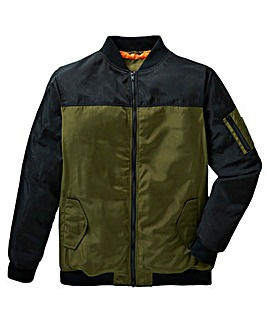 Label J Colour Block Bomber Jacket L