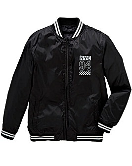 Label J Printed Bomber Jacket L