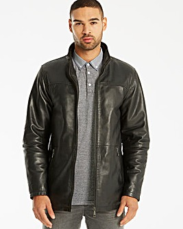 Black Label Leather Jacket Long