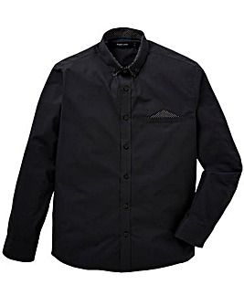 Black Label Pocket Square Shirt L