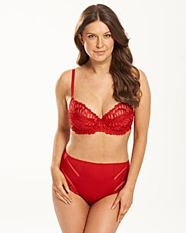 Lana Embroidered Full Cup Red Bra