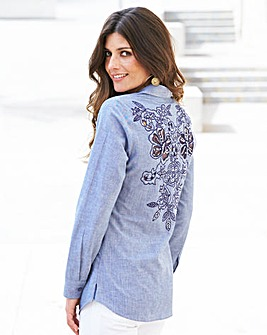 JOANNA HOPE Applique Back Blouse