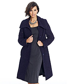 Joanna Hope Sequin Boucle Coat
