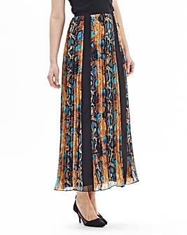 Joanna Hope Print Pleated Maxi Skirt