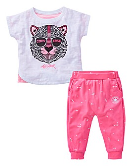 Converse Baby Girl Top and Jogger Set