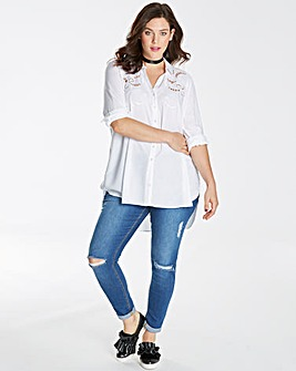 White Shirt With Cutwork Detail