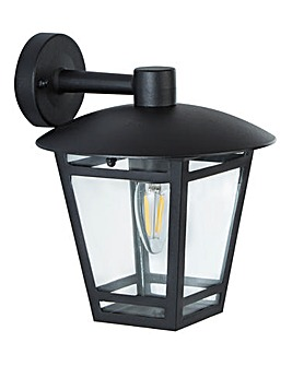 Black Mains Powered Outdoor Wall Light