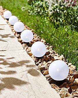 Set of 6 Solar Globe Pathfinders
