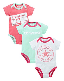 Converse Baby Pack of Three Bodysuits