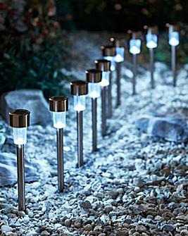 Set of 10 Copper Solar Lights
