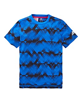 adidas Youth Boys Long Print T-Shirt