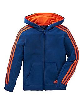 adidas Youth Boys 3 Stripe Full Zip Hood
