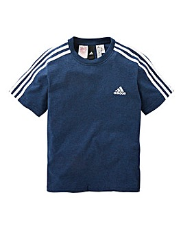 adidas Youth Boys 3 Stripe T-Shirt