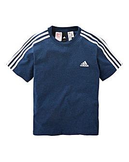 adidas Youth Boys 3 Stripe T-Shirt