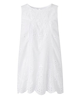 White Embroidered Vest