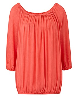 Split Sleeve Crinkle Blouse