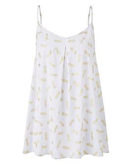 Pineapple Print Pleat Camisole