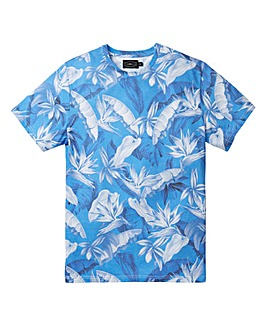 Label J Bold All Over Floral Tee Long