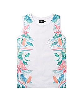 Label J Tropical Side Print Vest Regular