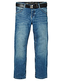 Crosshatch Techno Embossed Jean 33 In