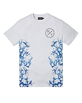 Label J Oriental Side Print Tee Long
