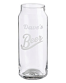 Personalised Beer Can Glass