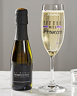 Personalised Little Miss Prosecco Set