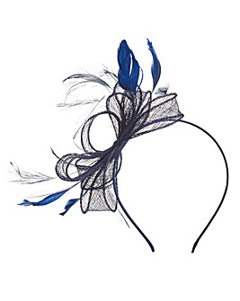 Navy Headband Style Fascinator
