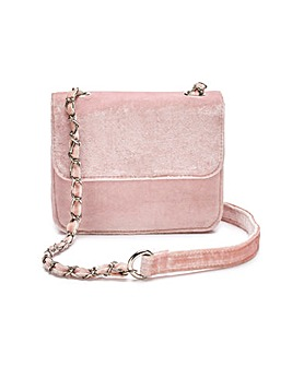 Velvet Pink Shoulder Bag