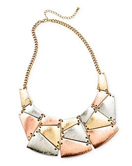 Mix Colour Metal Statement Necklace