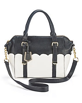 Emily Ivory/Black Winged Tote Bag