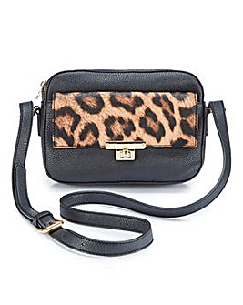 Dixie Across Body Bag With Leopard Flap
