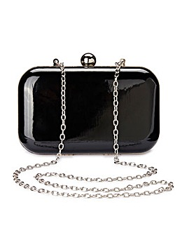 Alice Black Patent Clutch Bag