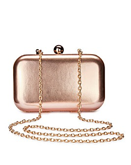 Alice Rose Gold Clutch Bag