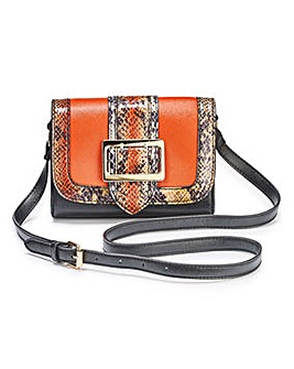 Buckle Detail Shoulder Bag