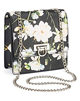 Floral Print Mini Shoulder Bag