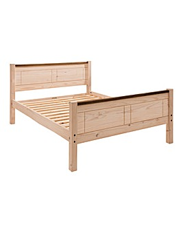 Oxford Two Tone Solid Pine King Bed